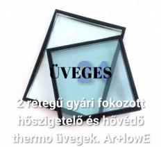 2 rétegű thermo üvegek cseréje